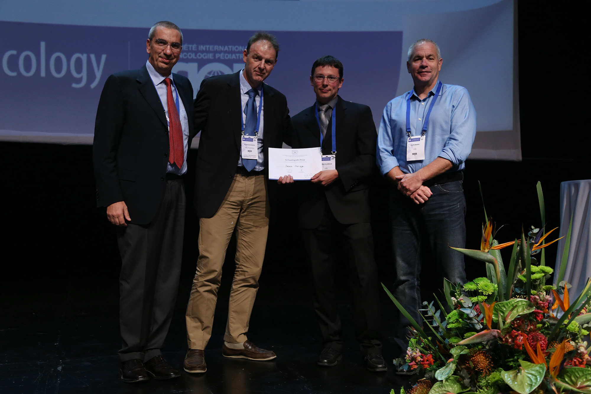 SIOP 2015 Schweisguth Winner Derek Oldridge (third from left)