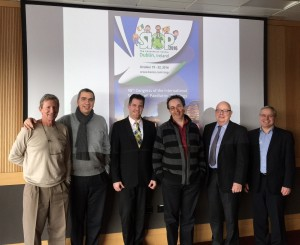 SIOP Executive Board Meeting, Dublin, January 2015 (from left to right: Paul Rogers (Secretary General, Giorgio Perilongo (President), Perry Gil-Ran (SIOP Secretariat), François Doz (SC Chair), Gregory Reaman (Treasurer) and Michael Capra (LOC Chair SIOP 2016 Dublin)