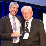 Pictured: SIOP President Eric Bouffet (left) with 2017 Lifetime Achievement Award recipient, Prof. Hans Peter Wagner
