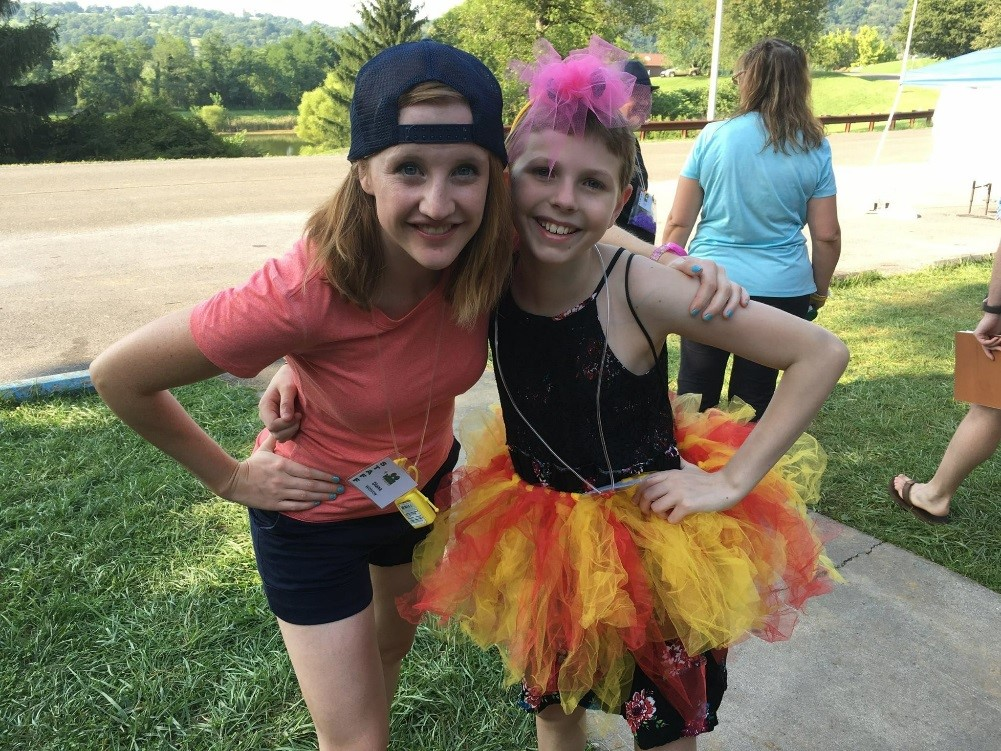 Diana with an attendee at  Camp Fantastic 2017!