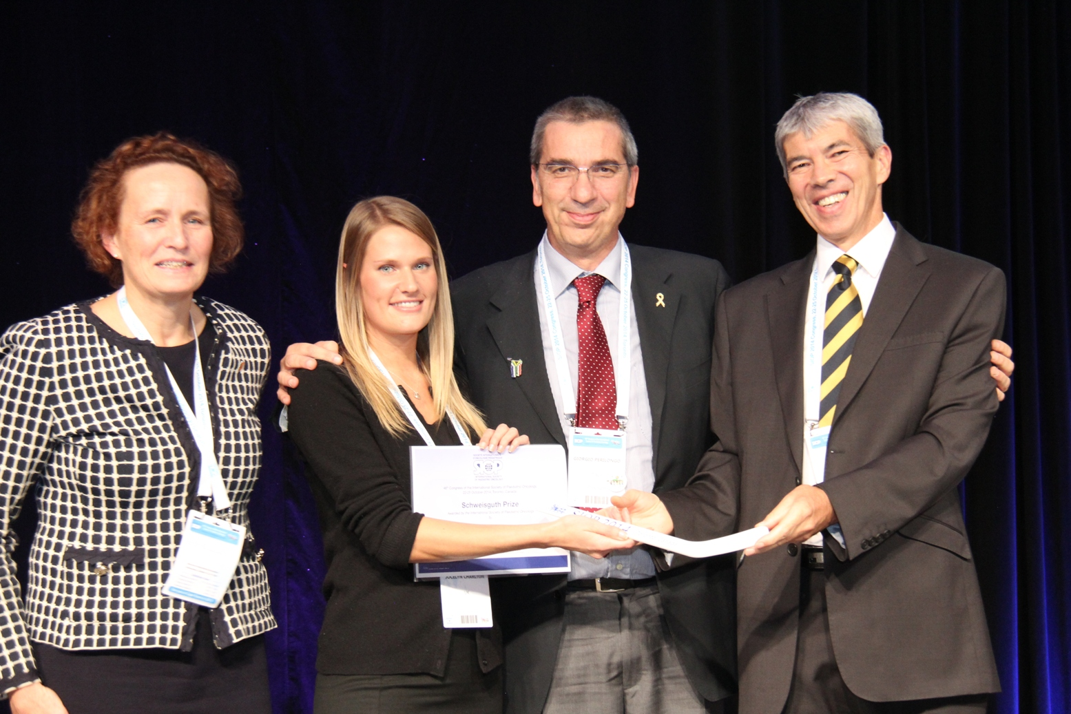 SIOP 2014 Schweisguth Winner Jocelyn Charlton (second from left)